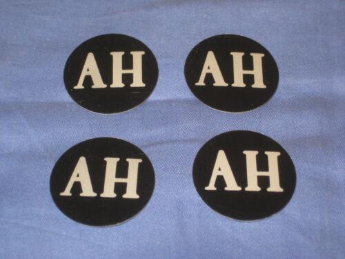 Ah Midget Sprite Set di 4 lega ruota centro tappi in plastica cromata badge Inc