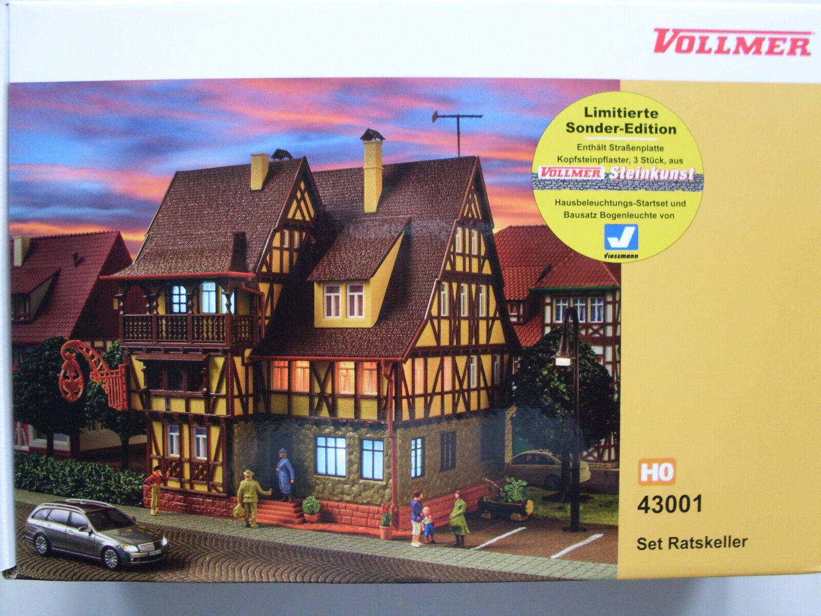 Vollmer 43001 , H0 Set sótano con iluminación, Modelo Kit 1 87