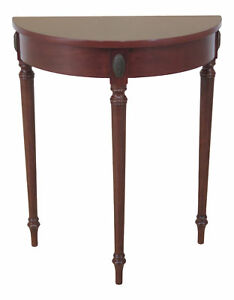 Peachy Details About F46190Ec Bombay Co Regency Style Cherry 1 2 Round Hall Table Lamtechconsult Wood Chair Design Ideas Lamtechconsultcom