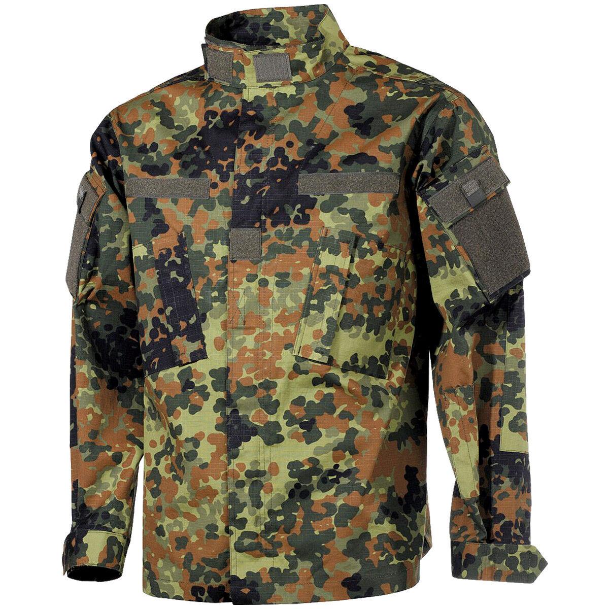 MFH Uomo ACU Giacca Da Da Da Campo Ripstop Shirt Esercito Uniforme Flecktarn Camo 50be05