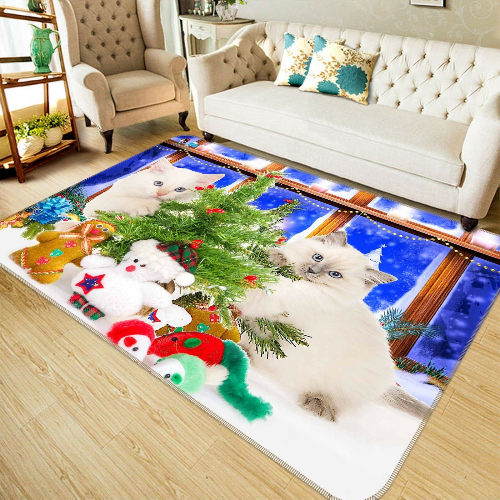 3D Tree Cat Pattern 85 Non Slip Rug Mat Room Mat Quality Elegant Photo Carpet AU