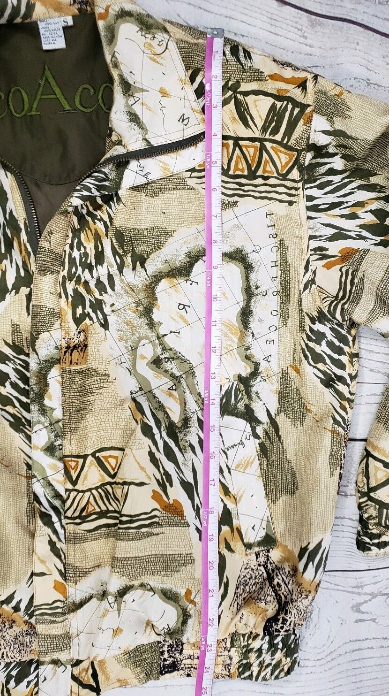 Coaco 100% Silk Small Jacket Multi Color Full Zip… - image 9