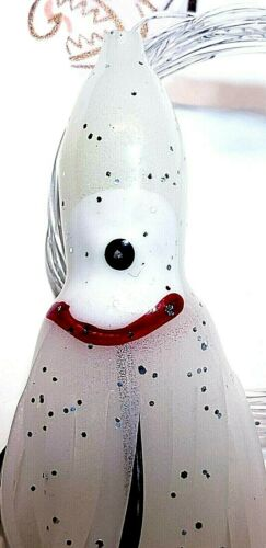 Delta Saltwater 2-Hook Rigged 4.5-inch Voodo Scented Glow-in-Dark White Squid