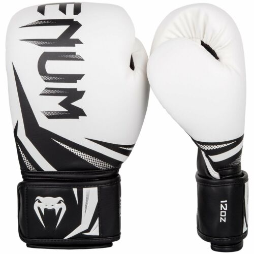 Venum Boxing Gloves Challenger 3.0 White Black Muay Thai Kickboxing Sparring