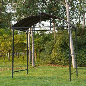 Image is loading Metal-Smoking-Gazebo-Marquee-Garden-Patio-BBQ-Tent- & Metal Smoking Gazebo Marquee Garden Patio BBQ Tent Grill Canopy ...