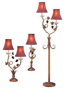 LOKG_Country Style 28''/32''/65''h Gold Vine Table Lamp ...