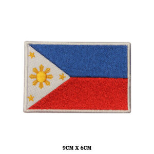 PHILIPPINES-National-Flag-Embroidered-Patch-Iron-on-Sew-On-Badge-For-Clothe-etc