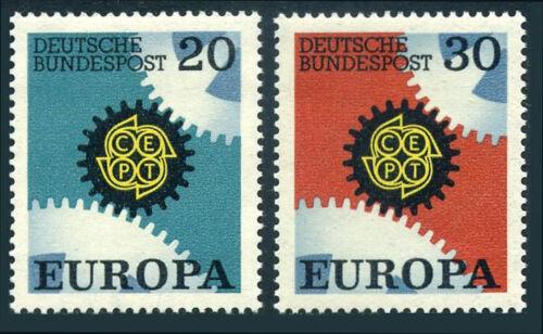 Germany 969-970, MNH. EUROPA CEPT. Cogwheels, 1967