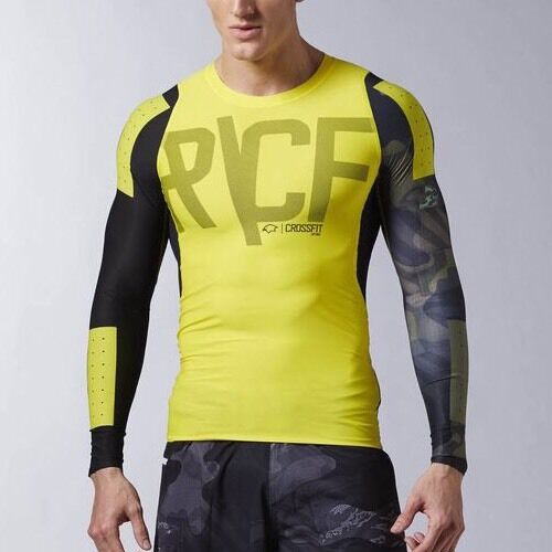 REEBOK CROSSFIT PWR6 LONG SLEEVE COMPRESSION SHIRT AI1367 $85 S Small NWT