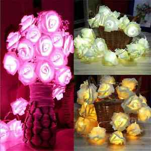 Fun-20-LED-Rose-Flower-Fairy-Wedding-Party-Christmas-Decor-Xmas-String-Lights-FT