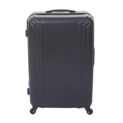 3er Set Valise mcw-d54a Voyage valise coque rigide valise trolley noir Standard