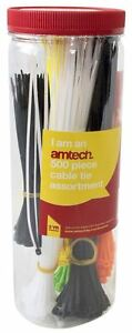 Am-Tech 500pc Assorted Cable Tie - Storage Tube - S0680