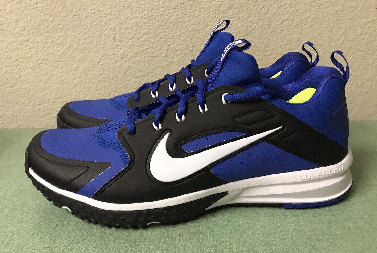 Nike Alpha Huarache Huarache Huarache Turf Turf blu nero bianca Baseball Lacrosse Uomo Sz 12 NEW  a6e881