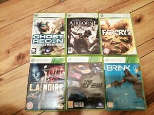 Microsoft Xbox 360 6 Spielepaket alles komplett alle Arbeiten frepost Far Cry Brink
