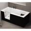 miniatura 9 - Badewanne für barrierefreies Bad mit Tür links, abnehmbarer Sitzbank VOVO 140 cm