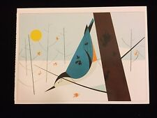 """Charley Harper Pomegranate Art Postcard """"White-Breasted Nuthatch"""" New Frame It!"""
