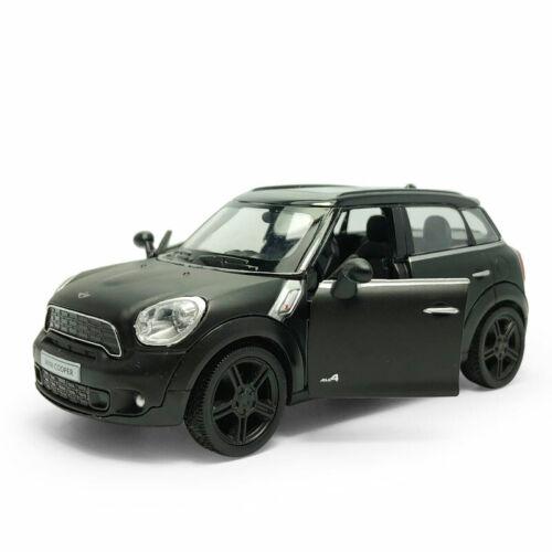1:36 Mini Cooper S Countryman Die Cast Modellauto Spielzeug Pull Back Schwarz