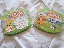 """Set of 2 Leap Frog Baby Little Leaps """"Say It Baby!"""" & Winnie The Pooh"""