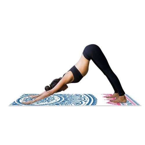 Mandala Print Yogamatte Tasche 1,5 mm dünn weich Chakra faltbar rutschfest Gym
