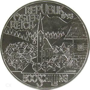 *** 500 Shillings Pièce Commémorative Autriche 1993 Région Alpine Argent Régions ***-afficher Le Titre D'origine