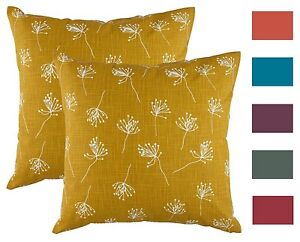 Details about TreeWool, (2 Pack) Throw Pillow Cushion Covers in Cotton Slub  Dandelion Accent