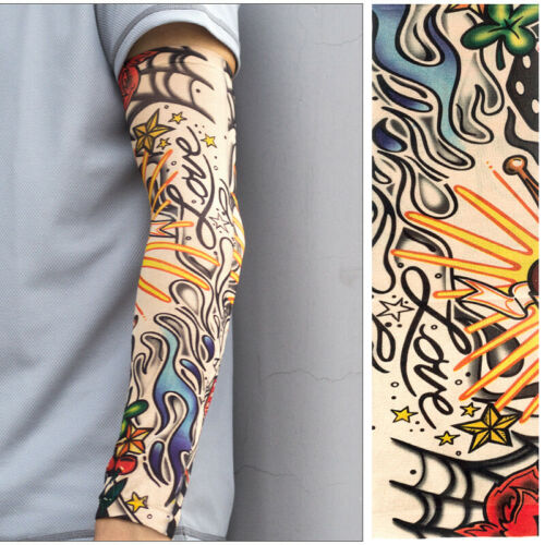 6pcs Tattoo Cooling Arm Sleeves Cover Basketball Outdoor Sport UV Sun Protection