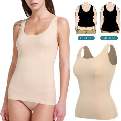 Fajas Colombiana High-Control Thermal Camisole Postpartum Shaper Padded Tank Top