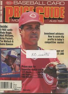 Details About Sports Collector Digest Baseball Card Price Guide August 1991