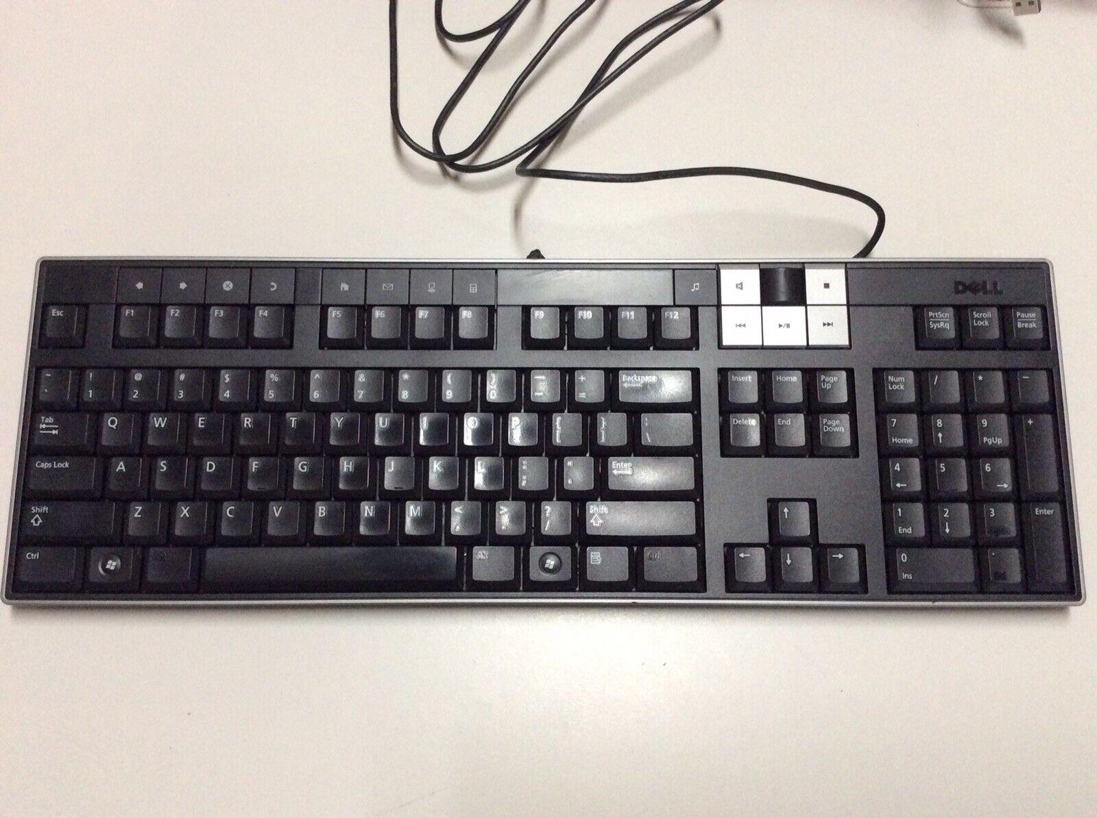 Lot Of 6 DELL U473D Enhanced Multimedia USB Keyboard W/ 2 USB Ports Y-U003-DEL5. Buy it now for 115.00