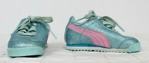 Details about Puma Girls Baby Shoes sz 4C Blue Glitter Sneakers Kinder-Fit  Toddler Sparkle