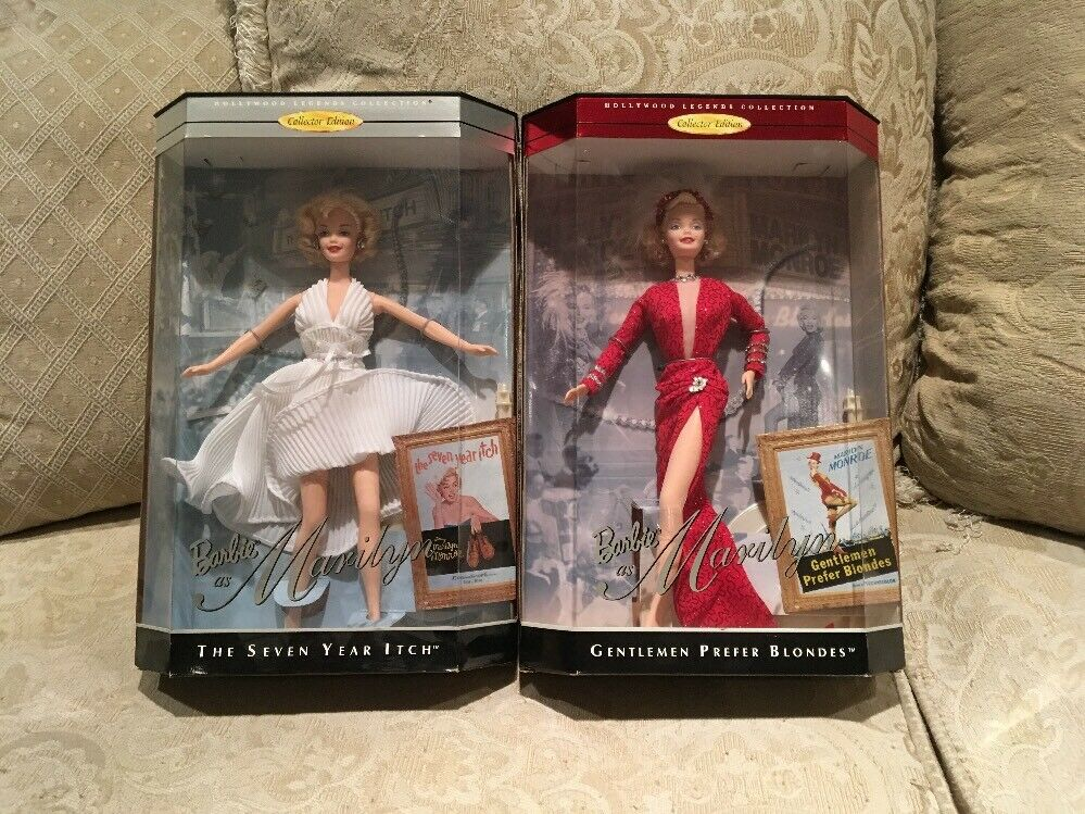 MARILYN MONROE COLLECTORS EDITION SET OF 2 BARBIE'S NRFB