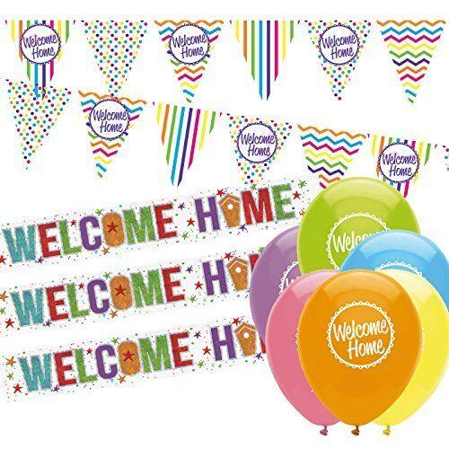 Nuevo paquete de de de bienvenida casa decoraciones Bienvenido a Casa empavesado, bienvenido a casa Banners un 50db44