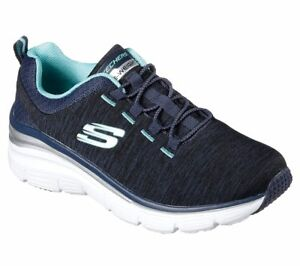 Slip Navy Memory 12716 Foam Skechers Women's Shoes Casual On Comfort OgwFpq