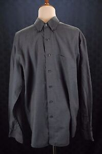 Van-Heusen-Size-M-15-15-1-2-Wrinkle-Free-Long-Sleeve-Button-Front-Dress-Shirt
