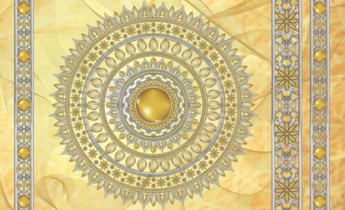 Fototapete XXL Wandbilder Tapete 059676FW Mandala in Gold Abstraktion und Kunst