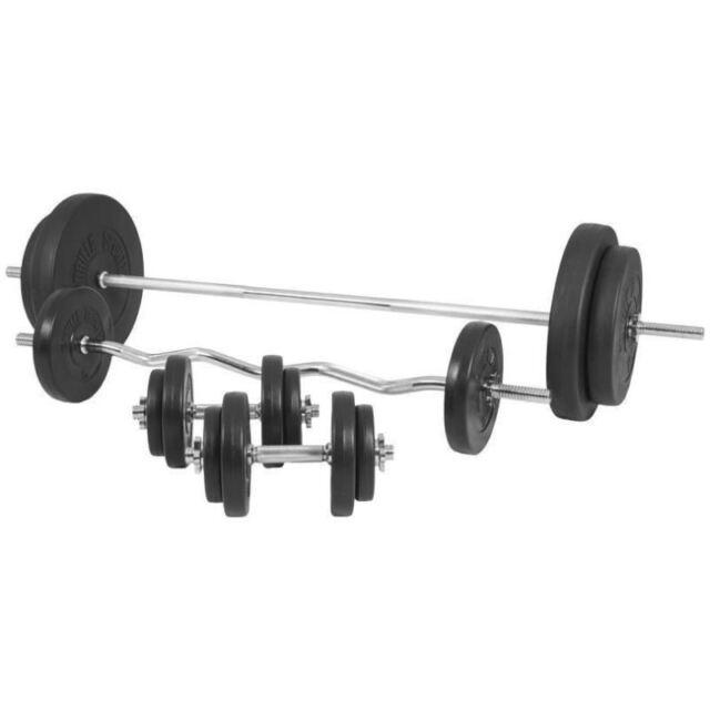 366a777adf6 Gorilla Sports Vinyl Complete Weight Set 100kg for sale online