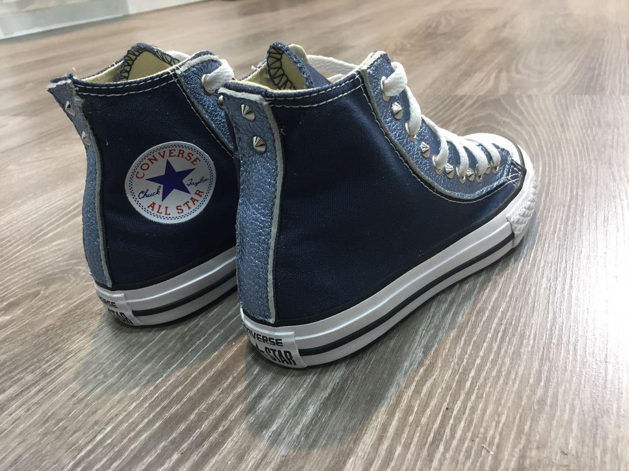 Converse personalizzate all star chuck taylor personalizzate Converse con borchie e pelle 5e3e87