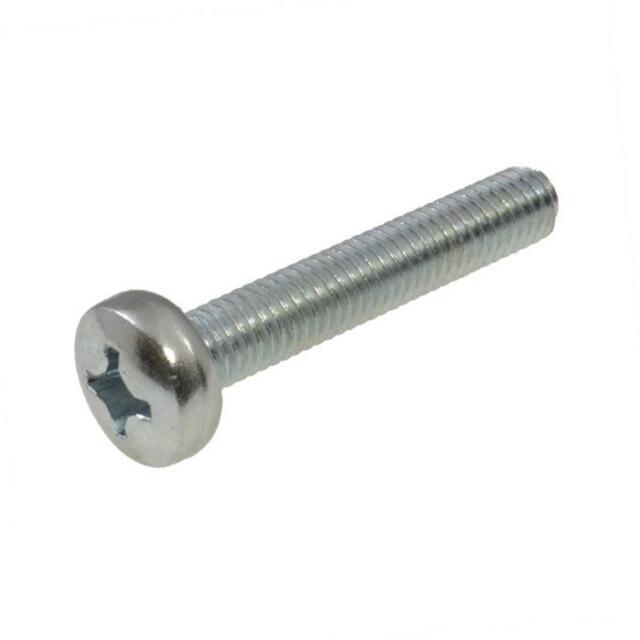 Pack Size 1 Zinc Plated Pan Head M6 (6mm) x 65mm Phillip Metric Machine Screw