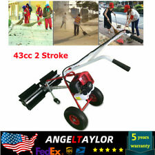 43cc 2stroke Gas Power Handheld Cleaning Sweeper Broom Driveway Turf Grass Clean