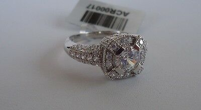 Energetic 925 Sterling Silver Ladies Ring /18k Wht Gold Plated /size 6 To 9/ 4 Ct Diamonds Jewelry & Watches Fashion Jewelry
