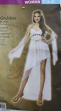 GREEK GODDESS COSTUME Adult Small Sexy White Halloween Athena Aphrodite Love NEW