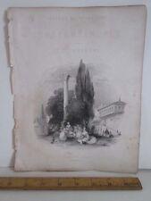 Vintage Print,GARDENS OF SERAGLIO,Fishers,Constantinople,Allom,c1860