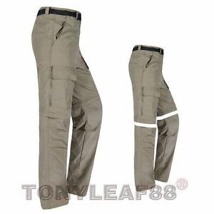 Mens quick dry zip off convertible pants shorts outdoor for Lightweight fishing pants