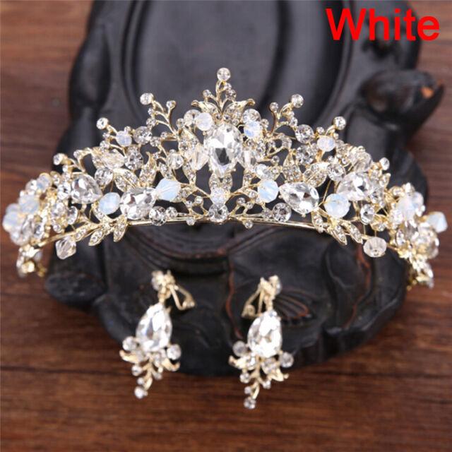 Pearl bridal crowns handmade tiara bride headband crystal wedding picture 5 of 5 junglespirit Images