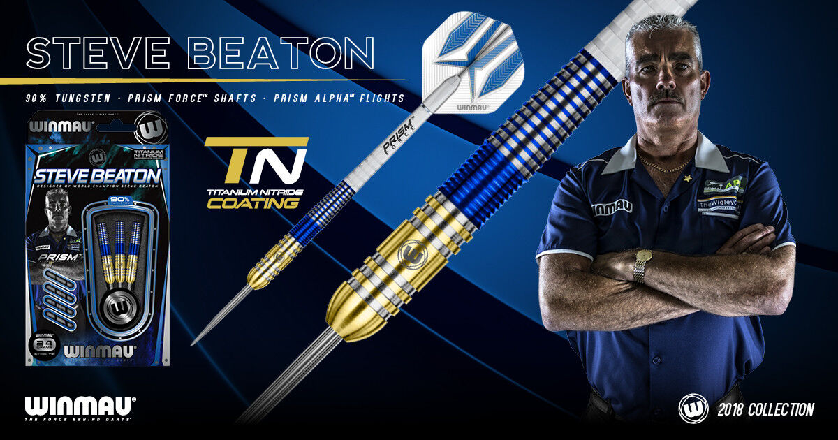 Steve Beaton 2018 Winmau Latest Darts The Bronzed Adonis Flights and Stems