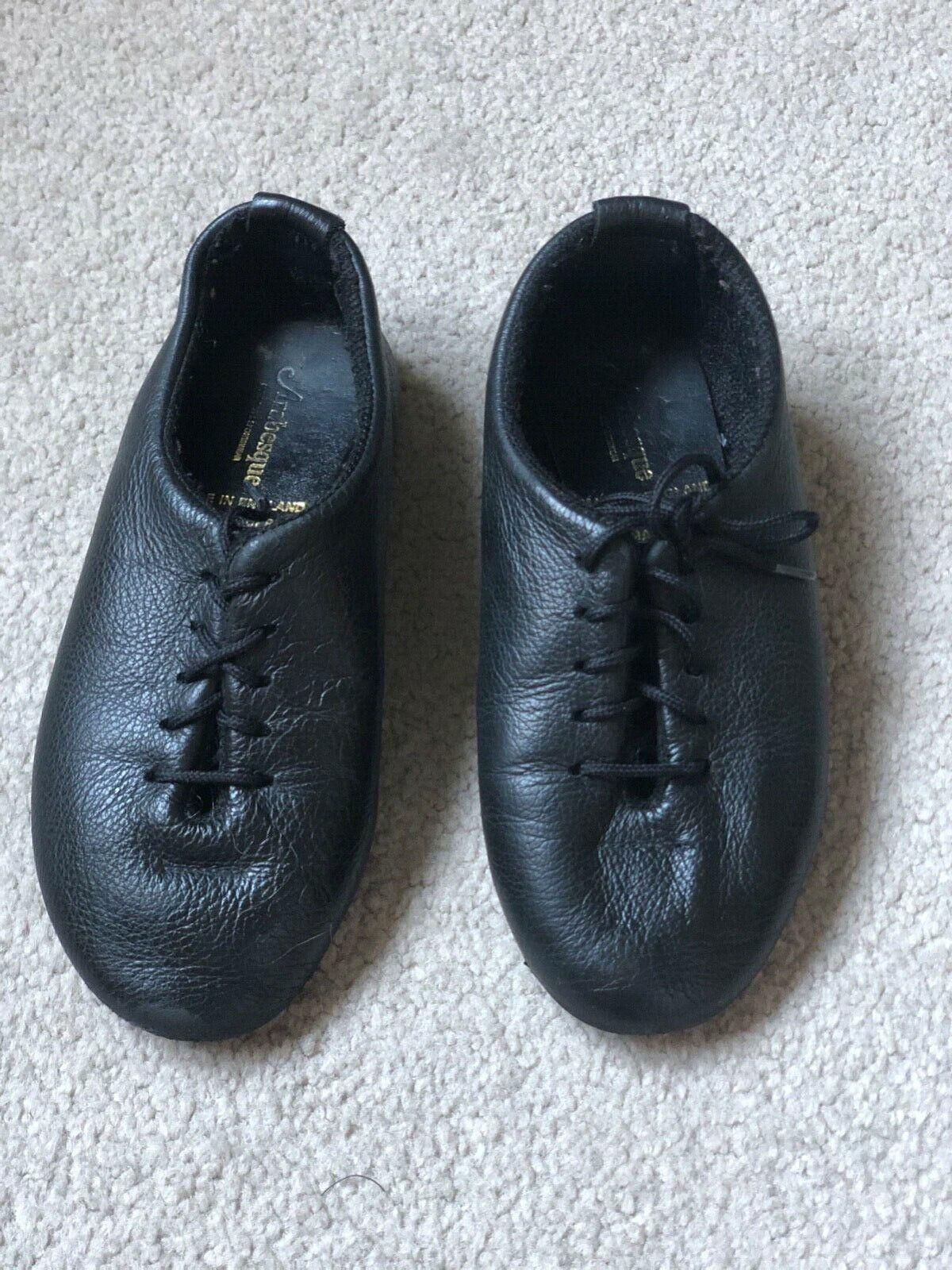Arabesque jazz black leather shoes full sole Size 11