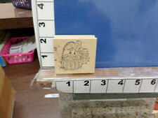 bunny easter basket rubber stamps 33t