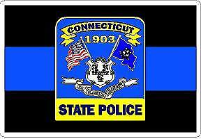 Details about Thin Blue Line CT State Police Decal Sticker Trooper Sheriff  Deputy Patrol LEO