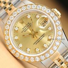 Rolex Ladies Datejust Oyster Two Tone Champagne Dial Ladies Watch 69173