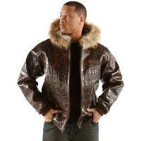 Pelle Pelle Iridescent Large Croc Plush Leather Jacket